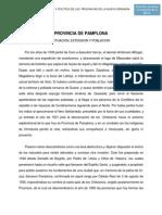 Provincia de Pamplona Situacion Extension y Poblacion