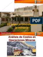 Analisis de Costos en Operaciones Mineras