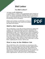 Bid Letter