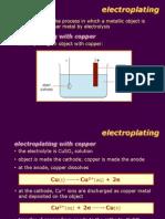 Electolysis Electroplating
