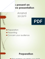 How to Present an Effective Presentation