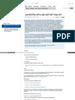 .NetMVC - Restful API