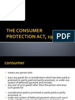 Rm's the Consumer Protection Act, 1986