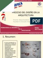 Ppt - Proceso del diseño. Arquitectura.