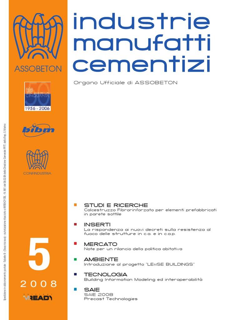 Industrie Manufatti Cementizi N 5 Del 2008