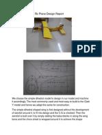 Rc Plane Design Report