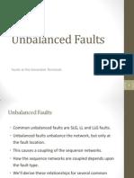 Unbalnced faults