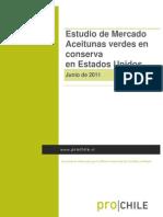 Estudio de Mercado Aceitunas Verdes en Conserva en Estados Unidos