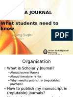Writing a Journal Article