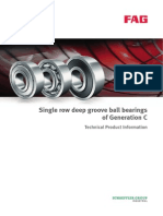 FAG Single Row Deep Groove Ball Bearings