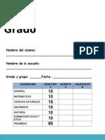 Evaluacion 5º Grado General