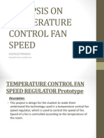 Synopsis on Temperature Control Fan Speed