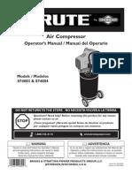 Manual Compresor de Aire Brute 074004