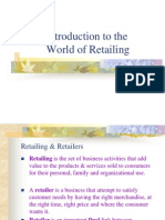 (1) Introduction to the World of Retailing
