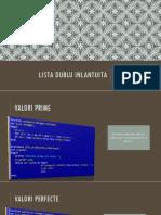 LISTA DUBLU INLANTUITA - Algoritmi Fundamentali