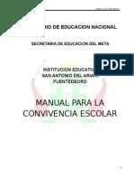 Mejorado Manual Para La Convivencia Escolar 2014