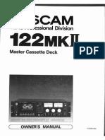 Tascam 122 Manual