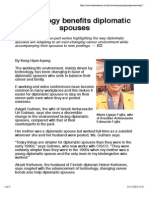 Technology Benefits Diplomatic Spouses