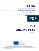 Itaca project - Quality plan