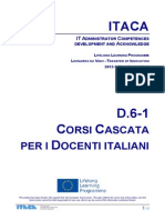 Itaca project - Report on Italian Cascade course