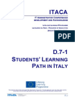 Itaca project - Report on Learning Path For Students ITALY