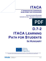 Itaca project - Students Learning Path in Hungary