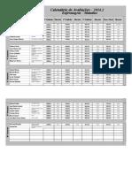 Calendário Matutino - EnF 2014.2