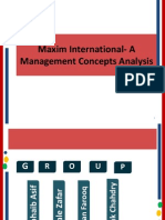 Maxim International Management Structure