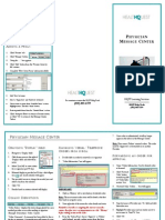 physician message centertrifold
