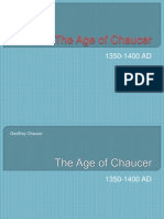 4. Age of Chaucer (1350-1400)