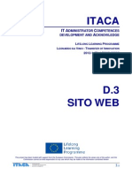 Itaca project - Web site