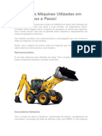 Conheça as Máquinas Utilizadas Em Obras