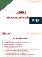 analítica gravimetria