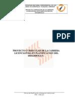 Pensum de Estudio de La Carrera Licentura en Planificacion Del Desarrollo Unellez
