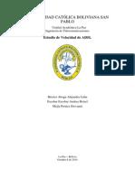 Estudio de Velocidad de Internet ADSL caso ENTEL S.A para La Paz Bolivia