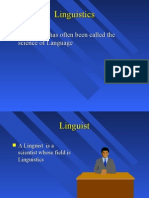 LING-01.PPT Introduction to Linguistics Dr. David F. Maas