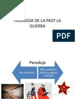 Paradoja de La Pazy La Guerra