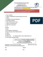 Continuing Rehabilitation Education IL Sept 2014 Application (1)
