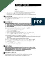 taylor fischer resume