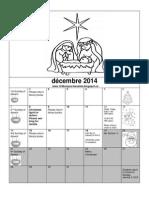 Pre-k Calendar December 2014