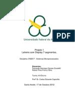 Relatório Proj 1 Letreiro Com Display 7 Segmentos Sistemas Microprocessados Quad4.2