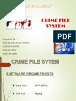 crime file management