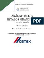 Analisis de los Estados Financieros de Cemex