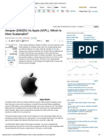 Amazon ($AMZN) vs Apple (AAPL), Which Is More Sustainable_
