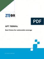ZTE LTE APT 700MHz Network White Paper ZTE June 2013