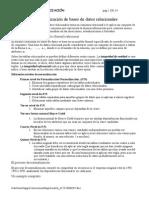 El Proceso de Normalización de Bases de Datos Relacionales