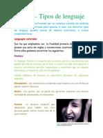 Tema 2 Tipos de Lenguaje
