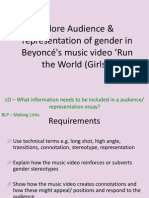 Music Video Beyonce Audience & Representation