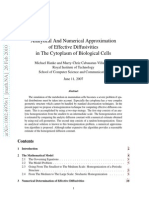 Analytical and Numerical Approximation of Effective Diffusivities in the Cytoplasm of Biological Cells