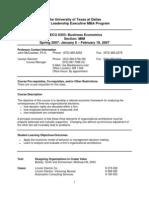 UT Dallas Syllabus for meco6303.mim.07s taught by John Mccracken (jfm)
